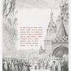 Zaglavnaia bukva i ramka, izobrazhaiushchaia shestvie Tsaria Mikhaila Feodorovicha dlia koronovaniia v 1613 godu.