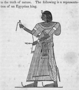 [Representation of an Egyptian king.]
