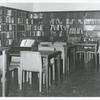 [Hamilton Grange, Readers tables and shelves.]