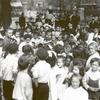 Hudson Park Playground, children waiting for story hour
