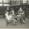 [Rivington Street, Three young readers.]