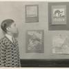 Rivington Street, Frank Mione, P.S. 21, with his pictures on exhibit