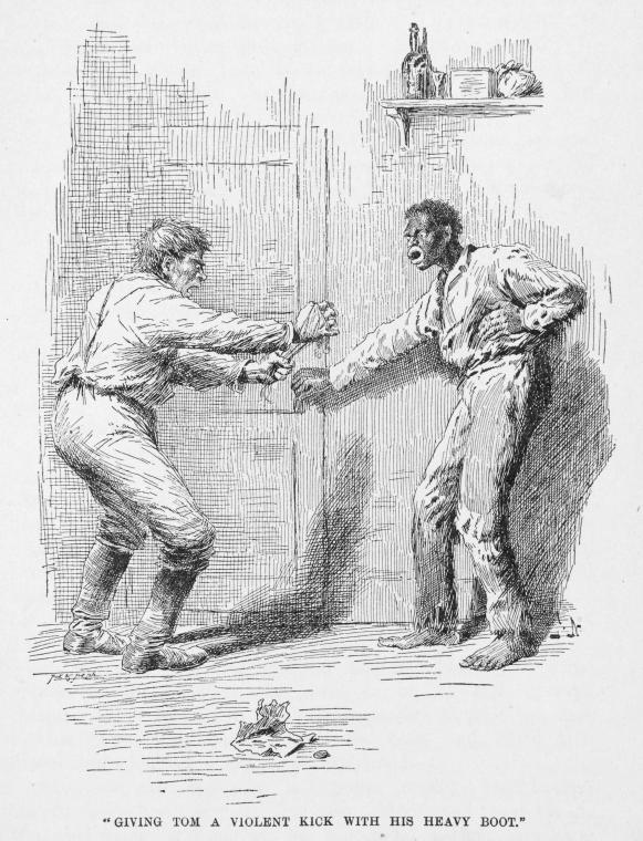 This is What Harriet Beecher Stowe and Giving Tom a violent kick with his heavy boot. Looked Like  in 1897