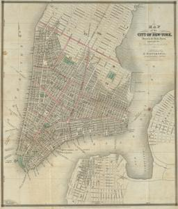 "Map of the city of New-York / drawn by D.H. Burr, expressly for ""New York as it is in 1833"" ; engraved by S. Stiles & Co."