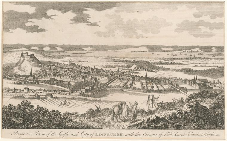 Fascinating Historical Picture of Edinburgh Castle in 1760