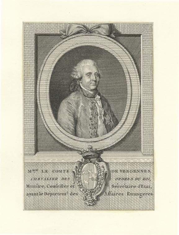 Fascinating Historical Picture of Charles Gravier Vergennes in 1780