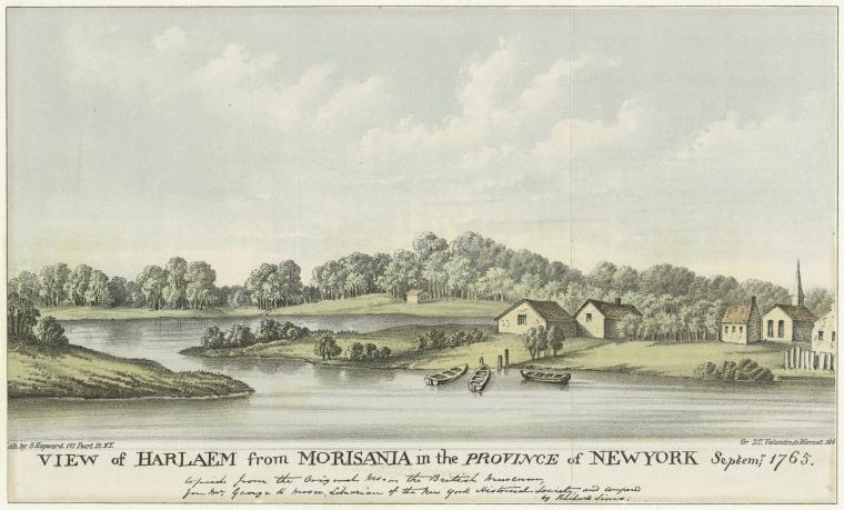 View of Harlaem from Morisania in the Province of New York Septem; 1765.