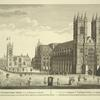 A north west view of Westminster Abbey and St. Margaret's Church.