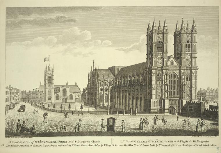 Fascinating Historical Picture of Westminster Abbey in 1780