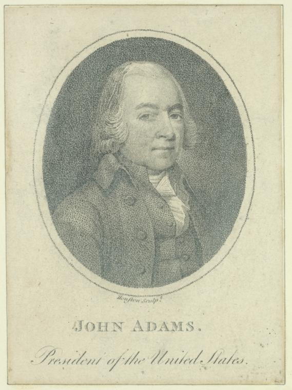 Fascinating Historical Picture of John Adams in 1797