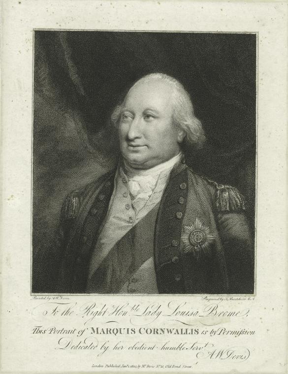 This is What Charles Cornwallis Cornwallis Looked Like  in 1803