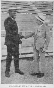Welcomed by the Mayor of Juarez, 1926.
