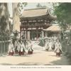 Entrance to the Kasuga Shrine at Nara and Group of Consecrated Maidens.