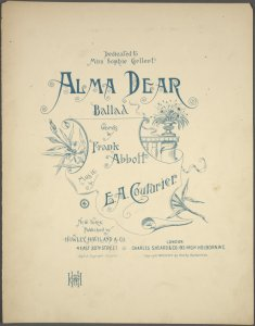 Alma dear / words by Frank Abbott ; music by E.A. Couturier.