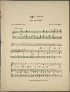 Apple seeds / words by Richard H. Buck ; music by Adam Geibel.