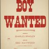 Boy wanted
