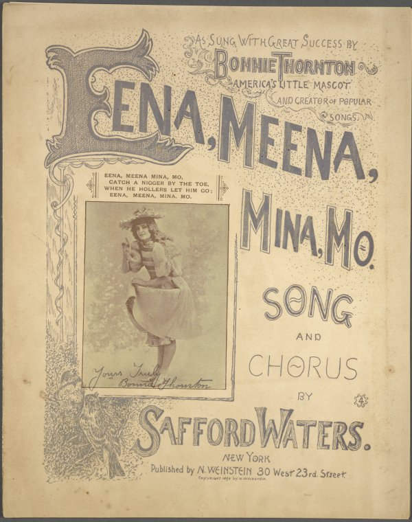 Eena, meena, mina, mo / by Safford Waters.