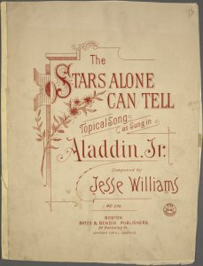 The stars alone can tell / song by Jesse Williams.