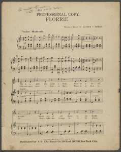 Florrie / words and music by Alfred C. Marks.