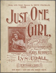 Just one girl / words by Karl Kennett ; music by Lyn Udall.