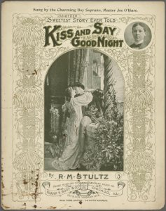 Kiss and say good-night / words and music by R.M. Stultz [Stults].