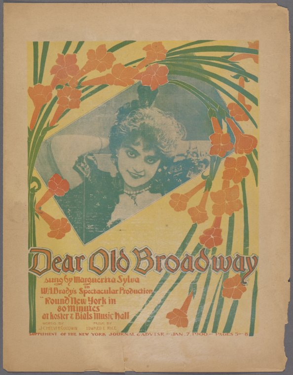 Dear old Broadway / words by J. Cheever Goodwin ; music by Edward E. Rice.