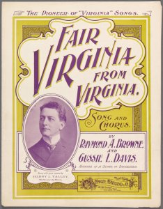 Fair Virginia from Virginia / by Raymond A. Browne and Gussie L. Davis.