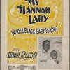 My Hannah lady, whose black baby is you