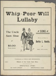Whip-poor-will lullaby / words and music by Bertha L. Hamlin.