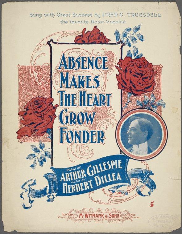 Absence makes the heart grow fonder / words byArthur Gillespie ; music by Herbert Dillea.