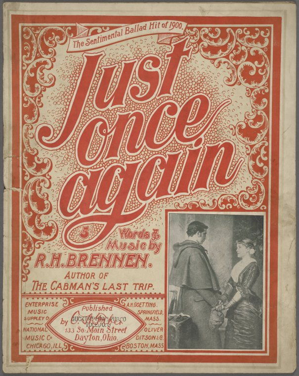 Just once again / words and music by R.H. Brennen.