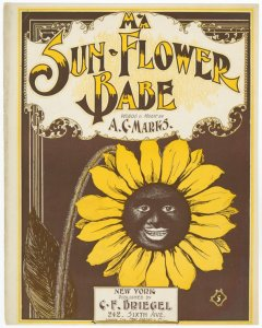 Ma sun-flower bab / words and music by A.C. Marks.