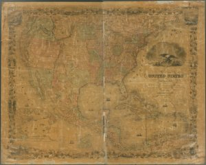Map of the United States of America, the British provinces, Mexico, the West Indies and Central America, with part of New Granada and Venezuela / map drawn by Geo. W. Colton ; engraved by John M. Atwood ; border desig'd. & eng'd. by W.S. Barnard.