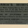 California's Mimic War