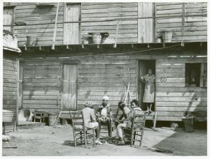 """Hotel"" in Pahokee, Lake Okeechobee, Florida, living quarters for migratory agricultural workers, February 1941."