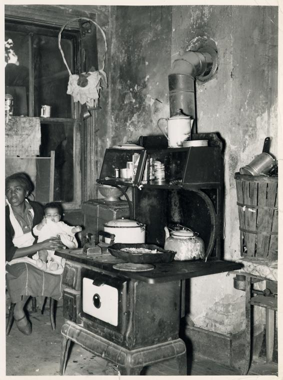 Slum kitchen; Washington, D.C.; October 1937.