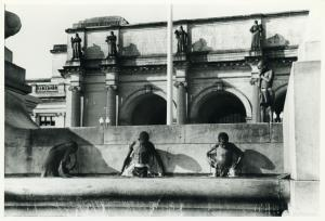 Swimming in fountain across from Union Station; Washington, D.C.; September 1938.