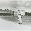 Company stores and offices and clinic of Delta Pine Company, Cotton Plantation, Scott, Mississippi Delta, Mississippi, October 1939.