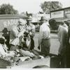 Selling fish on Saturday afternoon, Lexington, Holmes County, Mississippi Delta, Mississippi, November 1939.