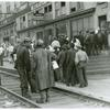 Pay day, coal mining town, Omar, West Virginia, September 1938.