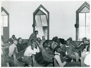 At a meeting of Negro Farm Security Administration borrowers in a church near Woodville, Georgia, Greene County, May 1941.