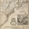 A new and exact map of the dominions of the King of Great Britain on ye continent of North America: containing Newfoundland, New Scotland, New England, New York, New Jersey, Pensilvania, Maryland, Virginia and Carolina