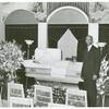 Undertaker before funeral services, Southside, Chicago, Illinois.