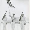 Color guard consisting of African Americans Corporal Gilbert Henderson, Staff Sergeant Edward W. Malone, and Sergeant John Pierce, Antiaircraft Artillery and Guided Missiles Center, Fort Bliss, Texas