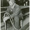 Miss Anna Bland, an African American woman, working on the SS George Washington Carver