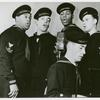Group photograph of the U.S. Coast Guard Quartet members while singing, New York, N.Y.