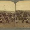 The Boer prisoners (Cronje's men) resting on the road from Paardeberg to Modder River, S. Africa.