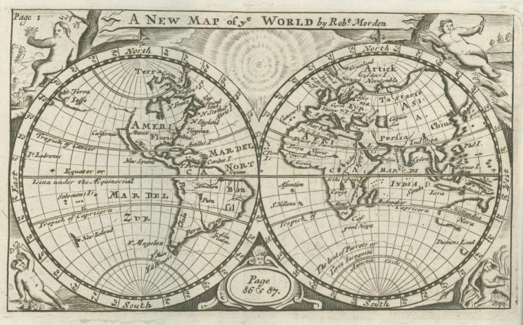 This is What Patrick Gordon and A new map of ye world Looked Like  in 1708