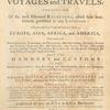 A new general collection of voyages and travels, Vol. 1, Title page