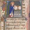 Te igitur, historiated initial, Priest at altar